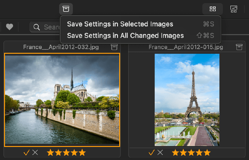 Save results after managing photos in Photo Sense.