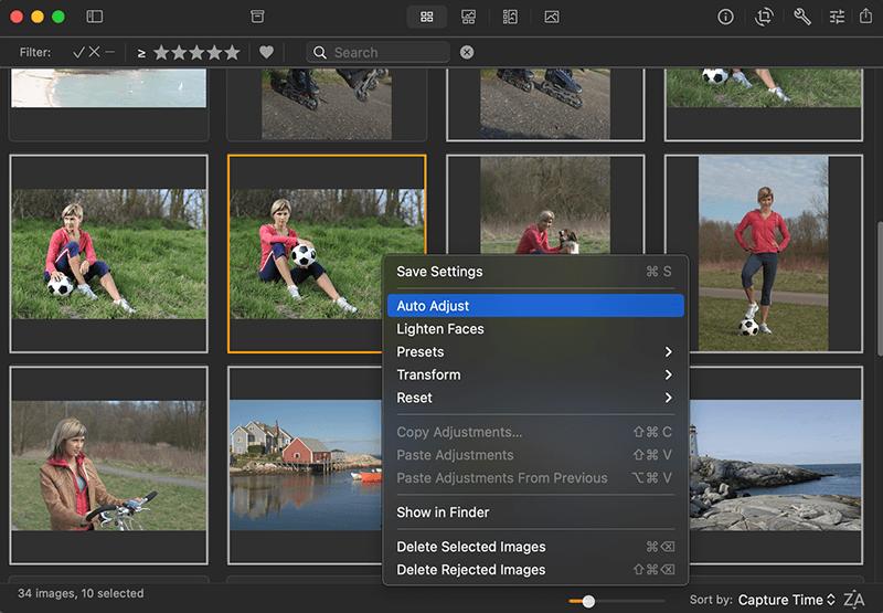 Edit photos on Mac: Auto enhance pictures in Photo Sense