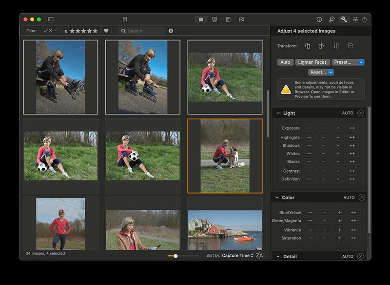 Batch photo editing on Mac with Photo Sense
