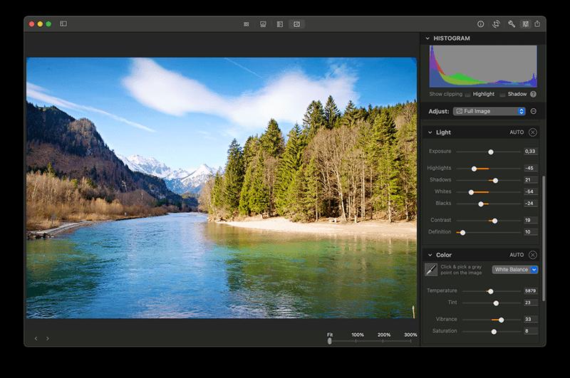 Edit RAW photos on Mac with Photo Sense